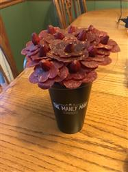 Anonymous verified customer review of Beef Jerky Flower Bouquet - Black Steel Edition