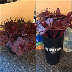 Ashley F. verified customer review of Beef Jerky Flower Bouquet - Black Steel Edition