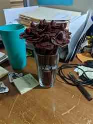 Elizabeth N. verified customer review of Beef Jerky Flower Bouquet