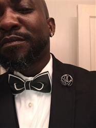 Black on White Bow Tie