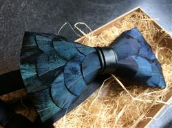 Malisa L. verified customer review of Blue Feather Bow Tie