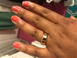 Stephanie S. verified customer review of The Titan Ring - Rose Gold