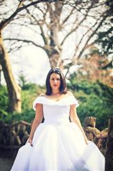 Oceane Bertholle verified customer review of Off Shoulder Ball Gown Wedding Dress | Ceci