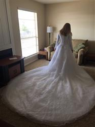 Robin R. verified customer review of Modest Lace Ball Gown Wedding Dress | Destiny