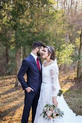Leslie H. verified customer review of Blush Whimsical Beach Lace Wedding Dress | Korynne