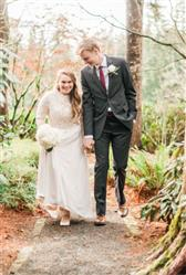 Modest Lace Long Sleeves Sheath Wedding Dress | Megan