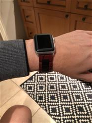 Anonymous verified customer review of Natural Wood Apple Watch Bands