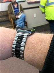 James B. verified customer review of Stainless Steel Apple Watch Bands