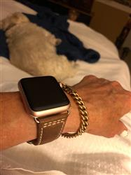 Nancy M. verified customer review of Classic Leather Apple Watch Bands