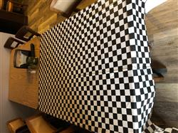 Martha L. verified customer review of Plastic Table Cover - B&W Check