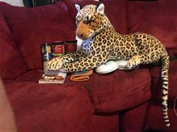 Melino R. verified customer review of Plush Toy Jumbo Realistic Leopard