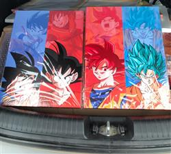 Jeffrey verified customer review of Son Goku Transformations - 5 Piece Canvas Painting