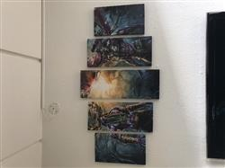 Malfurion and Illidan - 5 Piece Canvas