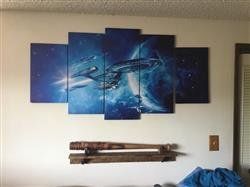 Kevin L. verified customer review of Star Trek USS Enterprise - 5 Piece Canvas Painting