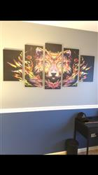 Anonymous verified customer review of Abstract Wolf Painting - 5 Piece Canvas