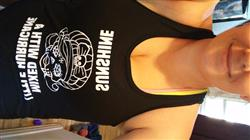 Candace P. verified customer review of Sunshine Mixed With A Little Hurricane Skull Shirt