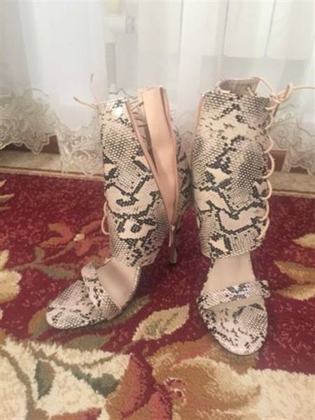N***a verified customer review of Gladiators Peep Toe Laced Shoe