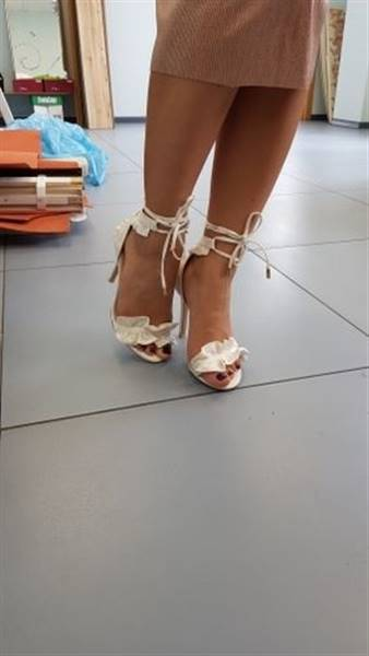 A***a verified customer review of Bailey Ruffled Lace Up High Heel Sandal