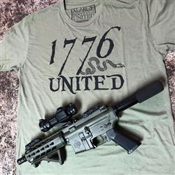 Josh D. verified customer review of 1776 United® Logo Tee - OD Green