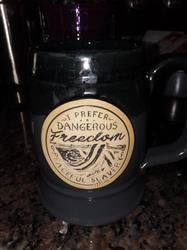Lynette I. verified customer review of Dangerous Freedom Tankard