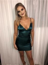 Sabrina J. verified customer review of Carmen Dress - Emerald Green