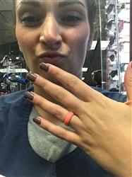 Kelsey J. verified customer review of Groove Thin Silicone Ring - Coral