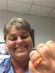 Sandra R. verified customer review of Clemson Silicone Ring - Thin