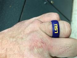 Kyle F. verified customer review of LSU Silicone Ring - Full Logo