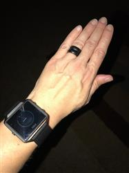 John Z. verified customer review of Groove Thin Silicone Ring - Midnight Black / Red