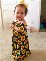 sarah h. verified customer review of Sunflower Cold Shoulder Maxi Dress