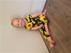 Brittnei T. verified customer review of Sunflower Jumpsuit Romper