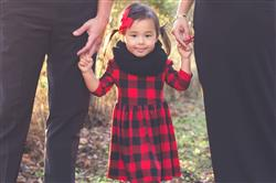 JUAH M. verified customer review of Red & Black Plaid Pleated Dress