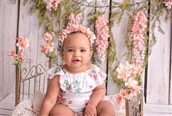 Torrey P. verified customer review of Peach Floral Flutter Sleeve Romper