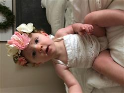Maddie R. verified customer review of Velvet & Lace Halter Romper - Ivory