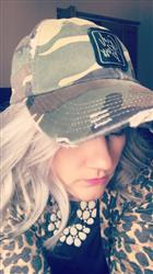 Jeri O. verified customer review of Girl Boss Distressed Hat (Camo)