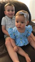Becky S. verified customer review of 'Pineapple' Blue Striped Romper