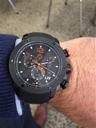 thomas f. verified customer review of LIV GX1 Caliber 18 Swiss Chronograph Black & Blue Numbers Rubber 1210.45.119