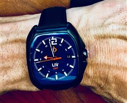 Eric M. verified customer review of Rebel-GMT 24 Hours / GMT + Dual Time | Black IP Case | Blue Dial