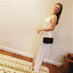 Sharon A. verified customer review of Bowery Slip Dress Cold White