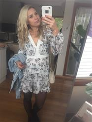 Brooke W. verified customer review of Reminisce Long Sleeve Mini Dress