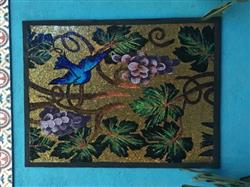 adriana d. verified customer review of Mosaic Mural - Blue Bird in Gold