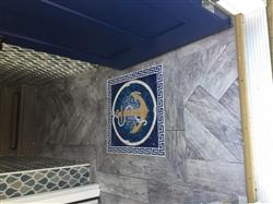 Janet T. verified customer review of Bright Anchor on a blue background Marble Mosaic
