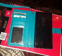 chadima a. verified customer review of Samsung Galaxy Note 8 Wallet Phone Case Flip Cover