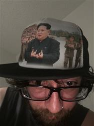 Luke K. verified customer review of Kim Jong Represent Trucker Hat