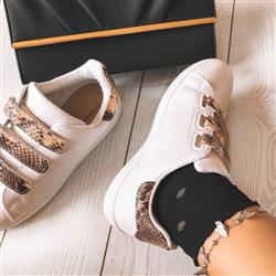 Elisa F. verified customer review of Snake Print Details White Trainers