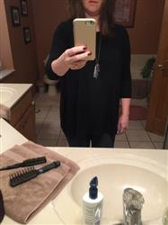 Sheri Q. verified customer review of Black PIKO 3/4 Sleeve Top