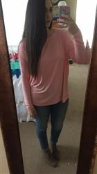 Julia B. verified customer review of Black PIKO Long Sleeve Top