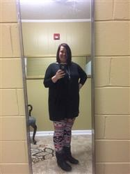 amanda f. verified customer review of Black PIKO 3/4 Sleeve Tunic