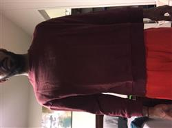 Imani W. verified customer review of Oversized Side Cut Crewneck - Maroon