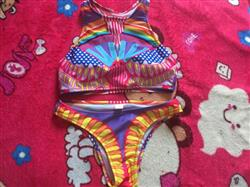 A***a verified customer review of Helena Retro Halter Bikini Set
